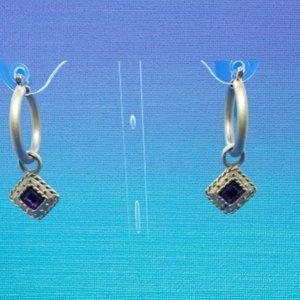 Vintage Brushed Gold with Purple dangler